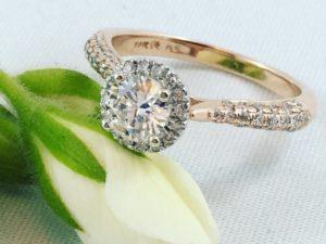 rose gold engagement rings winnipeg