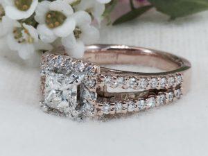 rose gold vintage engagement rings winnipeg