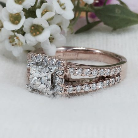 rose gold vintage engagement rings winnipeg