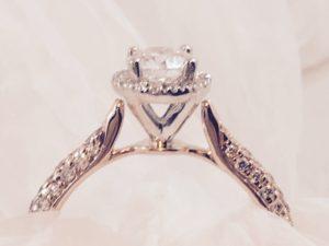 rose gold engagement ring wig