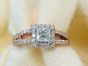 rose gold vintage winnipeg engagement ring