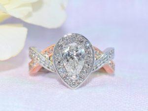 vintage rose gold engagement rings winnipeg