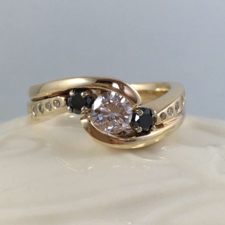 wpg engagement wedding ring set