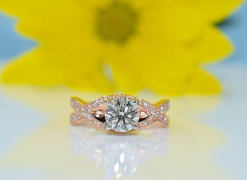Rose gold engagement rings in winnipeg
