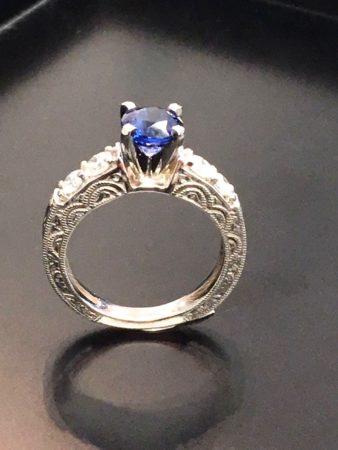vintage sapphire engagement rings winnipeg