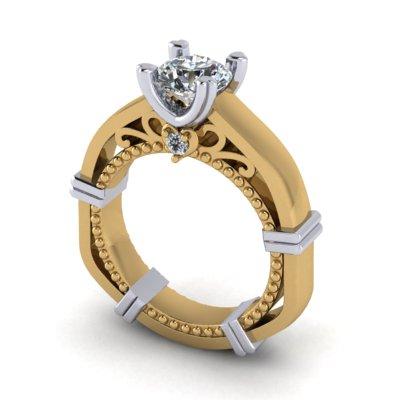 winnipeg custom vintage engagement ring