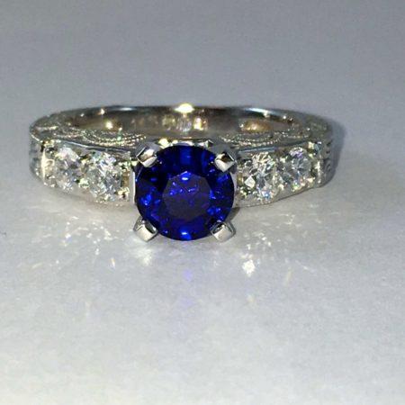 vintage sapphire engagement ring winnipeg