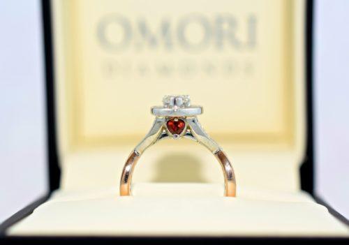 heart shaped diamond ring rose gold
