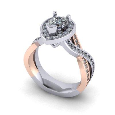 rose gold diamond engagement rings winnipeg
