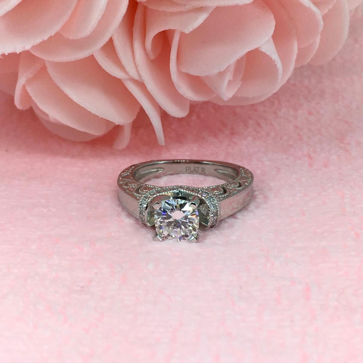 Winnipeg Engagement Ring Journal #29: Platinum Vintage Engagement ...