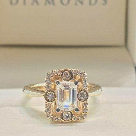 custom emerald cut engagement rings winnipeg