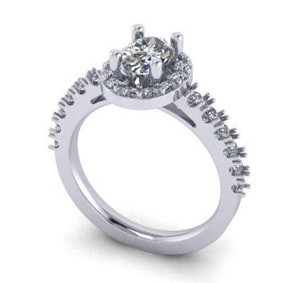 custom halo engagement rings
