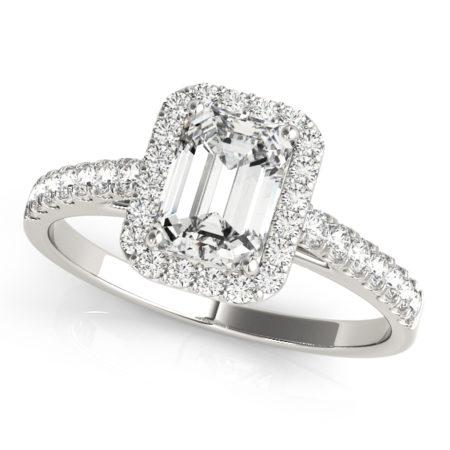halo emerald cut engagement rings winnipeg