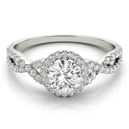 intertwining band halo engagement rings winnipeg
