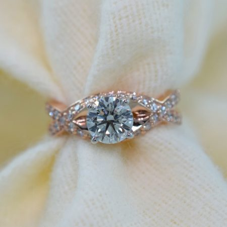 rose gold engagement rings on instagram
