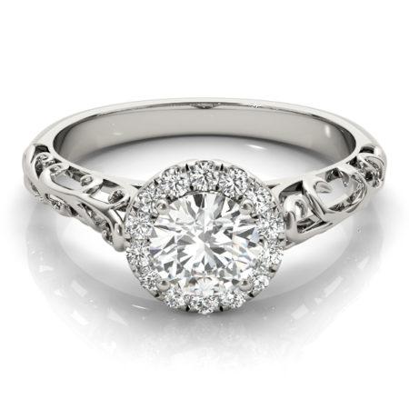 vintage halo engagement ring winnipeg