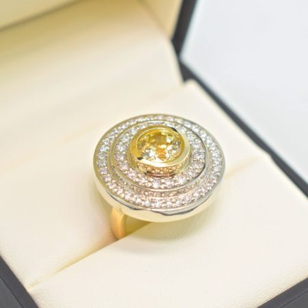yellow sapphire halo rings winnipeg