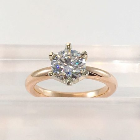 rose gold solitaire engagement ring winnipeg