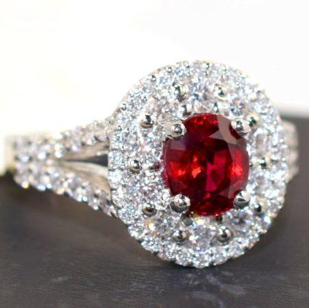 ruby and platinum ring winnipeg