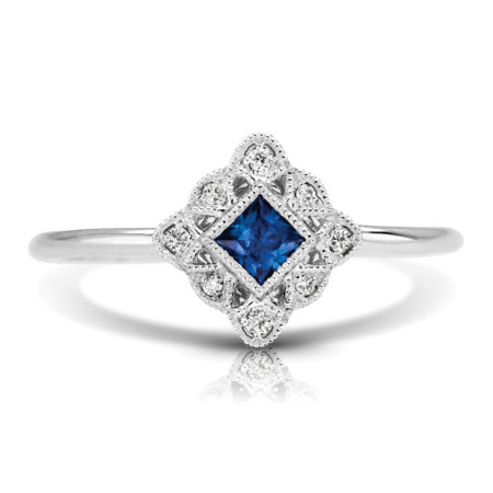 sapphire art deco engagement rings