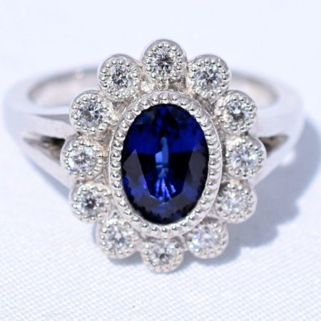 floral halo lady gaga engagement ring