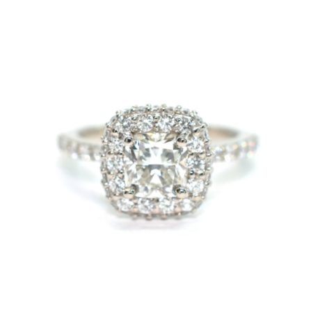 halo engagement rings in Winnipeg Manitoba