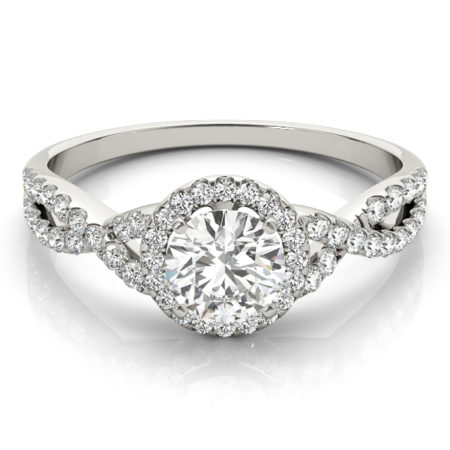 infinity band diamond engagement ring