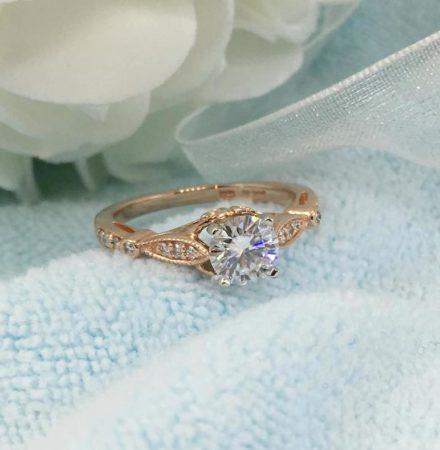 vintage rose gold engagement ring
