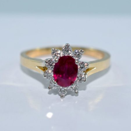 yellow and white gold ruby engagement ring winnipeg
