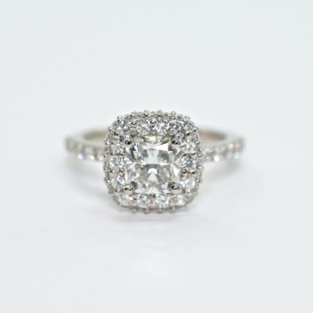 delicate band engagement ring