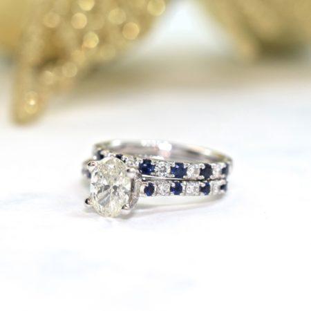 diamond and sapphire wedding ring