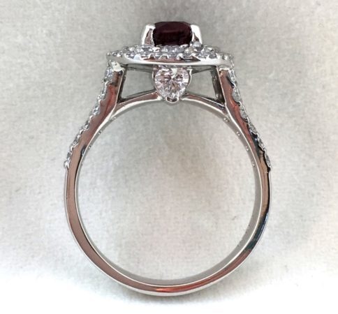 heart diamonds engagement ring