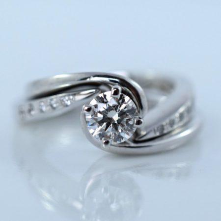 spiral diamond rings