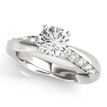 asymmetrical diamond rings