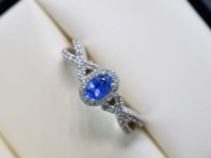 infinity sapphire and diamond engagement rings