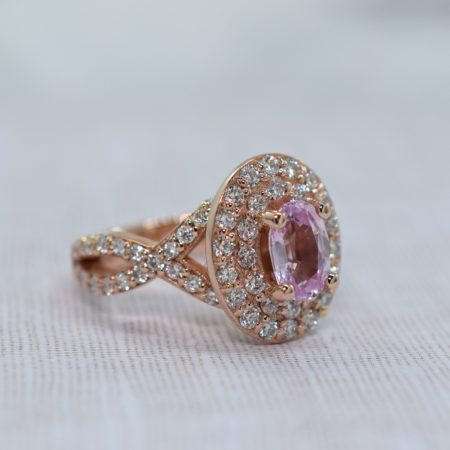 pink oval sapphire engagement ring winnipeg