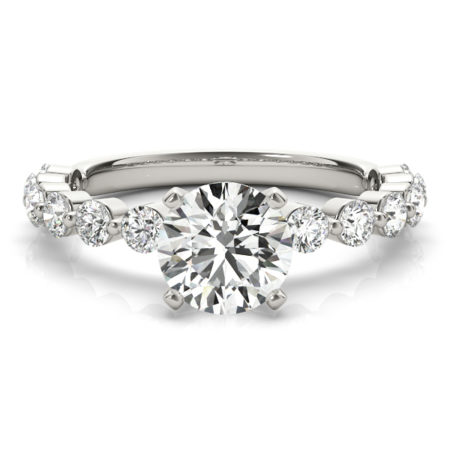 vintage side stone engagement rings