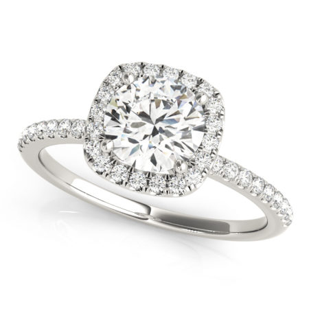 halo diamond ring with sidestones
