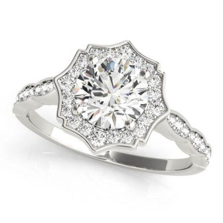 vintage halo diamond rings