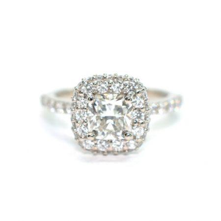 cushion diamond halo engagement rings winnipeg manitoba
