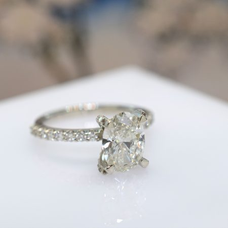 oval engagement ring omori diamonds