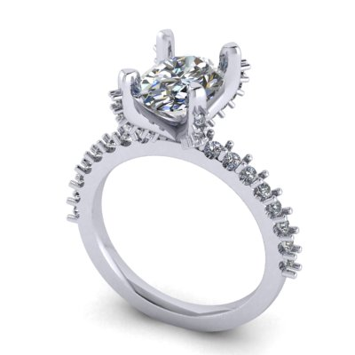 top image of oval engagement ring design