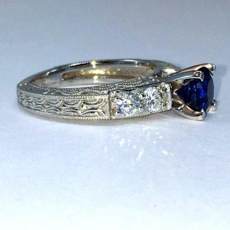 sapphire winnipeg engagement ring