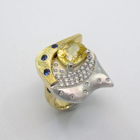 starry night ring by Jim Omori