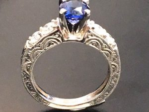 vintage sapphire engagement ring in winnipeg