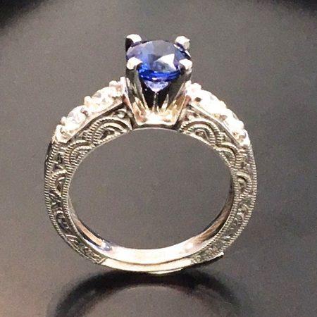 vintage sapphire engagement ring in winnipeg