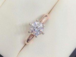 rose gold solitaire engagement ring winnipeg