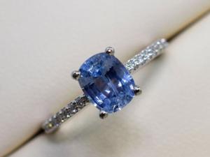 sidestone sapphire engagement ring