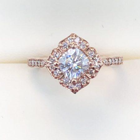 square diamond rose gold engagement rings winnipeg