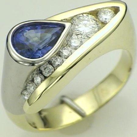 unique sapphire custom ring winnipeg
